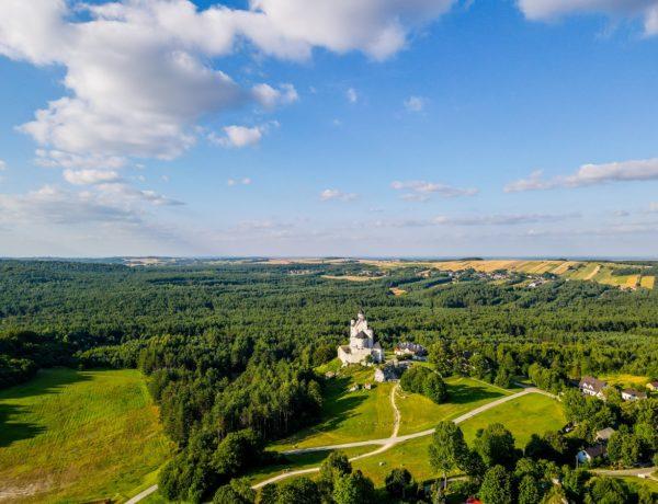 Zamek w Bobolicach z drona