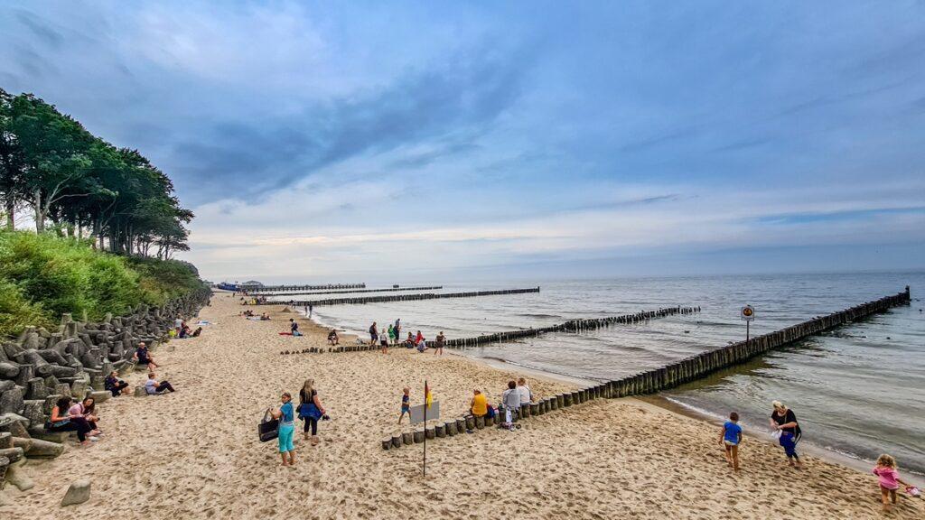 Ustronie Morskie Morze Bałtyckie plaża