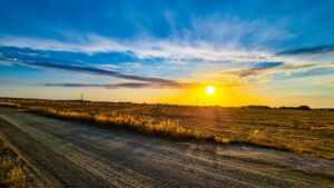 zachód słońca Ustronie Morskie