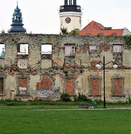 Ruiny zamku w Stzrelcach Opolskich