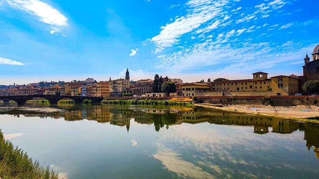 rzeka Arno, Florencja, Włochy