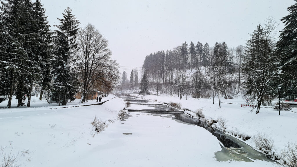 Wisła zimą