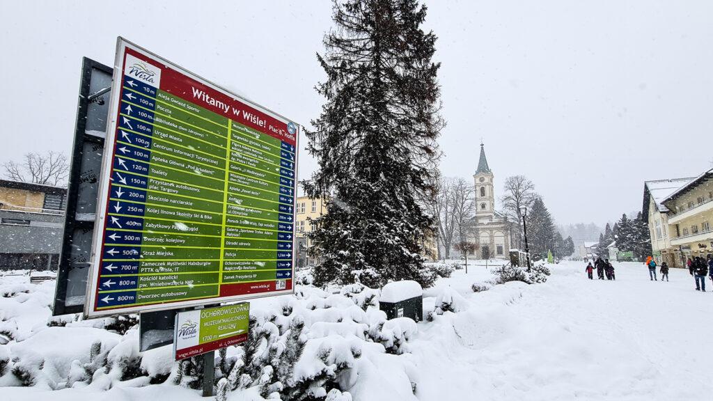 Tablica informacyjna w Wiśle