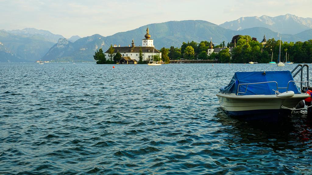 Schloss Ort jezioro Traunsee Gmunden Austria