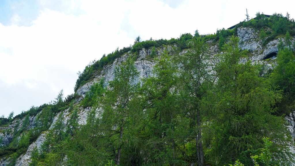 Herbaciarnia na Kehlsteinie – Orle Gniazdo – Niemcy - widok z parkingu górnego