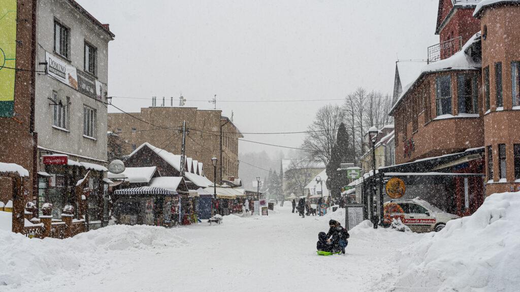Wisła Centrum Zimą